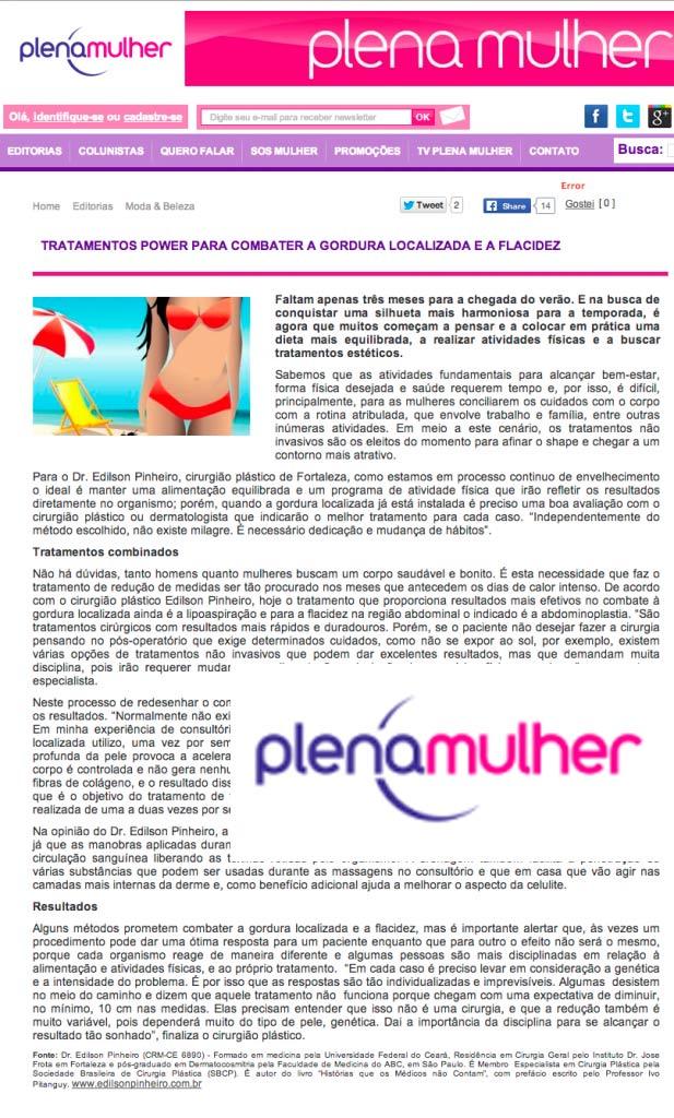 Blog Plena Mulher: Como eliminar a gordura localizada e flacidez na região abdominal