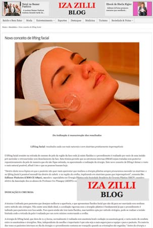 Novo Conceito de Lifting Facial – Blog Iza Zilli