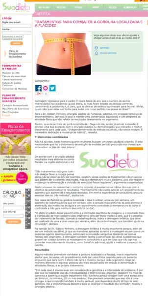 Blog Sua Dieta: tratamentos para combater a gordura localizada e a flacidez